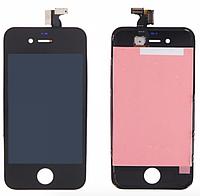 Дисплей iPhone 4 с сенсором (тачскрином) и рамкой, черный, оригинал