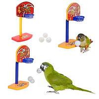 3pcs домашних птиц жуют попугай колокол мячи попугай игрушки птичка баскетбол Хооп пропеллер