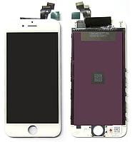 Дисплей iPhone SE с сенсором (тачскрином) и рамкой, белый, копия