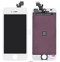 Дисплей iPhone 5s с сенсором (тачскрином) и рамкой, белый, оригинал