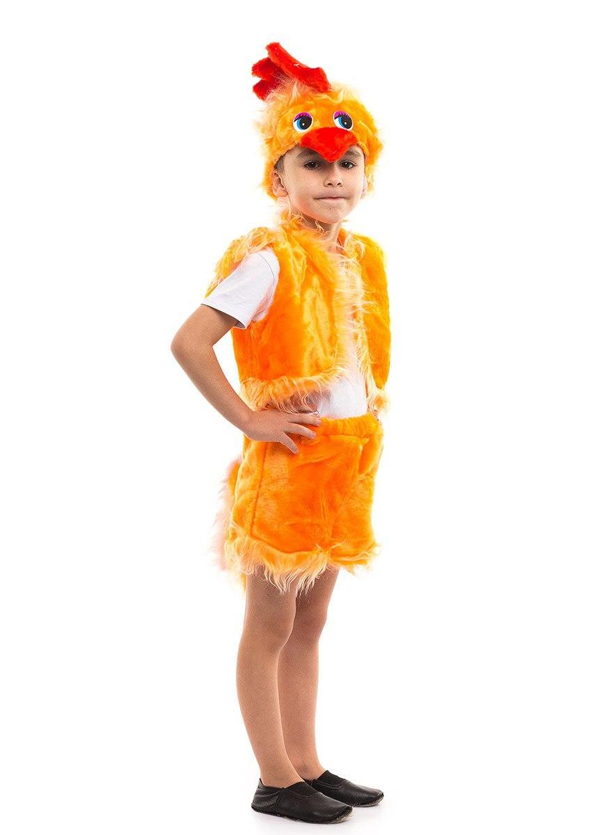 """Детский карнавальный меховой костюм """"Петушок №1"""" для мальчика"""
