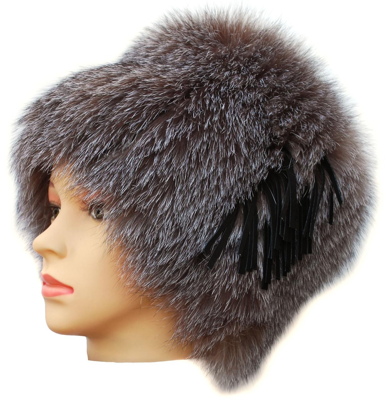 Меховая шапка из блюфроста,Барбара без полосы (голд) - Интернет-магазин меховых шапок в Харькове