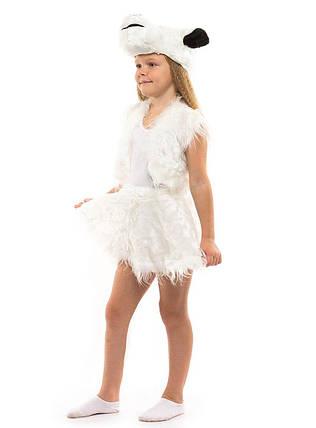 """Карнавальный детский меховой костюм """"Овечка"""" для девочки (2 цвета), фото 2"""