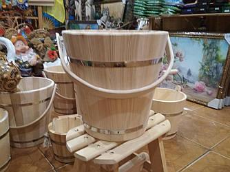 Дерев'яне відро для бані, сауни, води