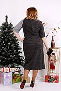 Женское платье с люрексом 0683 / размер 42-74 цвет серый+черный, фото 4