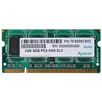 ОЗУ APACER для ноутбука DDR2 2Gb 800Mhz БЛИСТЕР CS.02G2B.F2M