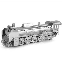 Айпина diy 3d головоломка из нержавеющей стали модель комплект Японии d51 Локомотив Серебряного цвета