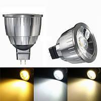 MR16 6W LED COB Чистый белый Теплый белый Естественная белая лампа с подсветкой DC12V