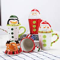 Кружка Пингвин/ чашка в виде пингвина (новогодняя чашка)