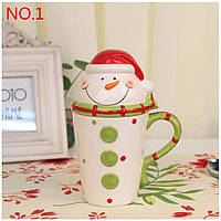 Кружка Снеговик/ чашка в виде снеговика (новогодняя чашка)