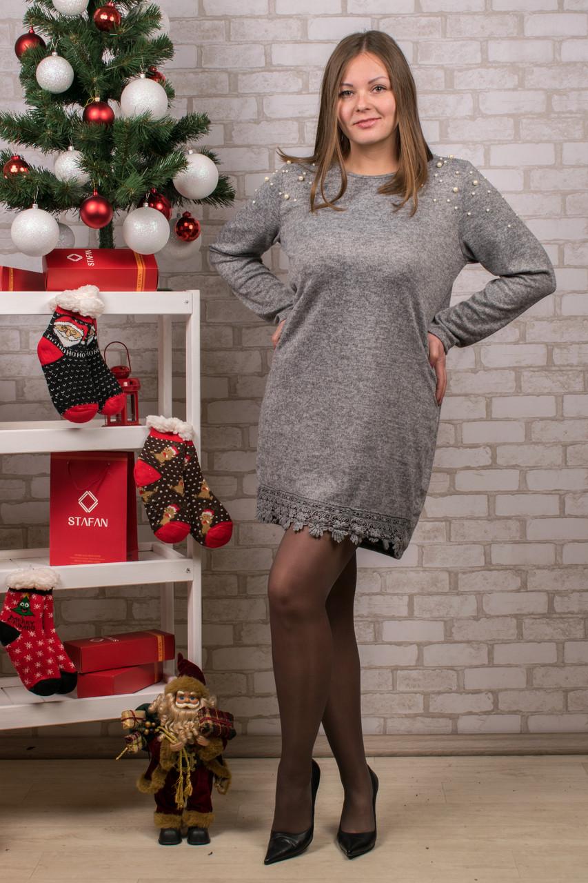Женское теплое платье. RBOSSI P33. Размер 52-54.