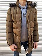 Зимняя куртка топ качества Moncler brown
