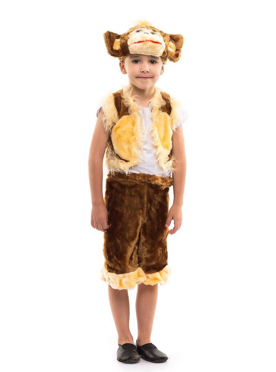 """Детский карнавальный меховой костюм """"Обезьянка"""" для мальчика"""