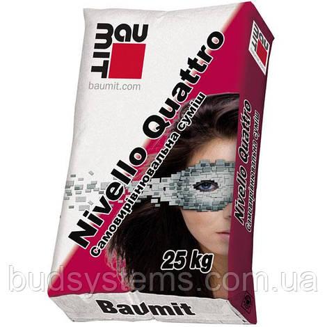 Самовыравнивающаяся смесь Nivello Quattro Baumit, 25 кг