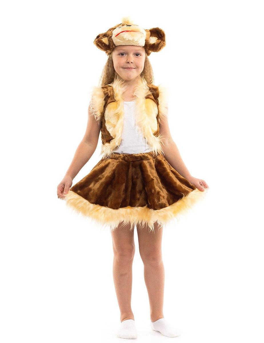 """Детский карнавальный меховой костюм """"Обезьянка"""" для девочки"""