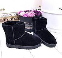 Женские Черные Угги Эко-Замшевые Fashion р.38 идёт на 36, фото 1