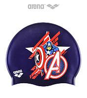 Детская (Junior) силиконовая шапочка для плавания Arena DM Silicone JR Captain America Marvel