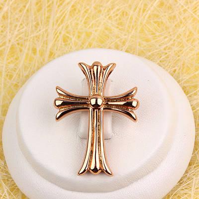 010-0785 - Кулон-крест розовая позолота