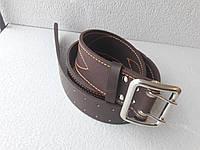 Ремень офицерский коричневый КИЕВ  (пряжка никель)