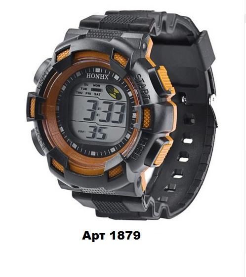 Наручные електронные  часы HONHX черные со вставкой