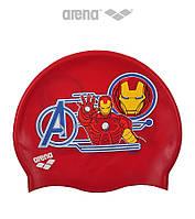 Детская (Junior) силиконовая шапочка для плавания Arena DM Silicone JR Iron Man Marvel
