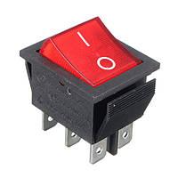 6-контактный 250v 16aon / офф переключатель кнопка коромысла переключения с LED