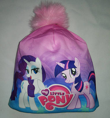 Детская  зимняя шапка на флисе Пони My Little Pony 50-54р