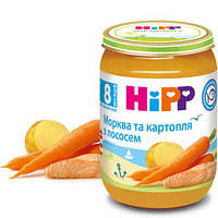 Пюре HiPP Лосось в морковно-картофельном пюре, 190 г