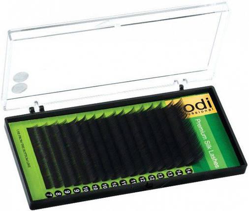 Ресницы для наращивания Kodi Professional Green, C-0.07 (16 рядов: 14 мм.) черные, фото 2