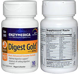 Enzymedica, Digest Gold with ATPro, 10 капсул
