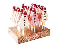 Карамель на палочке Новогодний Снеговик 20 шт, 80 г (Рокс)