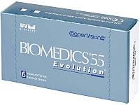 Линзы контактные(+подарок!) на 1 месяц Biomedics 55 Evolution
