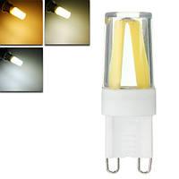 Затемняемый G9 1.5W початок LED чистый белый теплый белый натуральный белый пластик свет колбы лампы AC220V