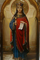 Икона писаная Святая Варвара