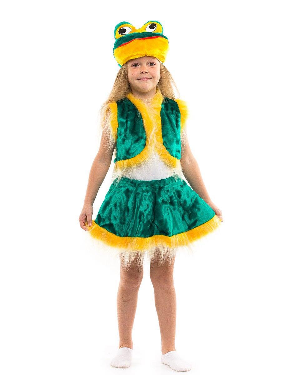 """Детский карнавальный меховой костюм """"Лягушка"""" для девочки"""