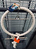 Кольцо-качеля для крупных и средних попугаев с деревянными кубиками, фото 1