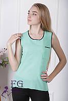Майка-блузка «Оливия» - распродажа мята, 48