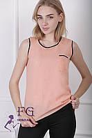 Майка-блузка «Оливия» - распродажа персик, 48
