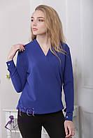 """Блузка с длинным рукавом """"Лурдес"""" - распродажа модели электрик, 44"""