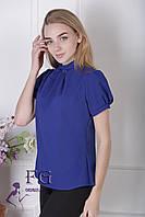 "Женская блузка ""Агата"" - распродажа модели электрик, 46"