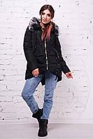 Куртка удлиненная сзади черная,т/синяя, хаки