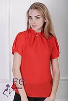 """Женская блузка """"Агата"""" - распродажа модели красный, 48"""