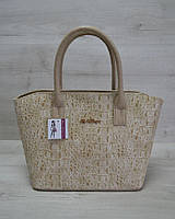 Классическая женская сумка «Две змейки» кофейный крокодил