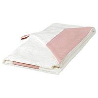 IKEA TILLGIVEN Детское полотенце с капюшоном, белое, розовое  (403.638.38)