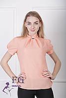 """Женская блузка """"Агата"""" - распродажа модели персик, 46"""