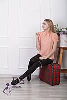"""Женская блузка """"Агата"""" - распродажа модели персик, 48"""