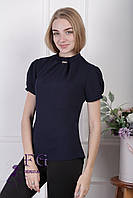 "Женская блузка ""Агата"" - распродажа модели темно-синий, 42"