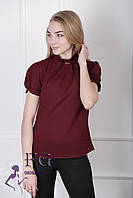 """Женская блузка """"Агата"""" - распродажа модели бордо, 46"""