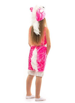 """Детский карнавальный меховой костюм """"Розовый Пони"""" для девочек, фото 2"""