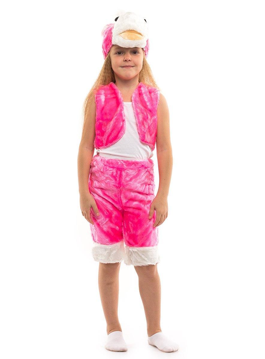 """Детский карнавальный меховой костюм """"Розовый Пони"""" для девочек"""